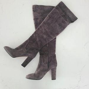 Suede over the knee boots